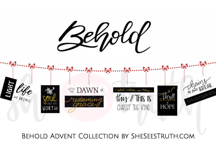 Behold Advent Collection corresponds to the Behold devotional by Christi Gee